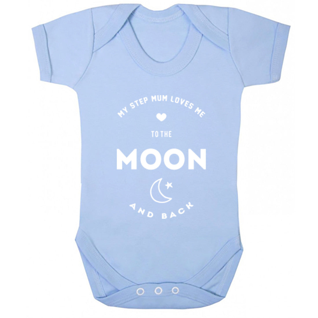 My Step Mum Loves Me To The Moon And Back Baby Vest K1550 - Illustrated Identity Ltd.