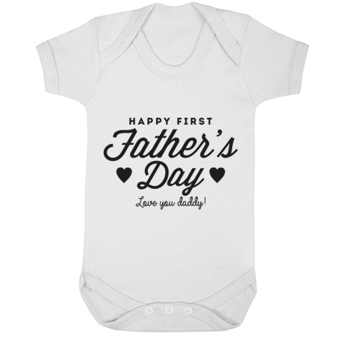 Happy First Father's Day, Love You Mummy Baby Vest K1661 - Illustrated Identity Ltd.