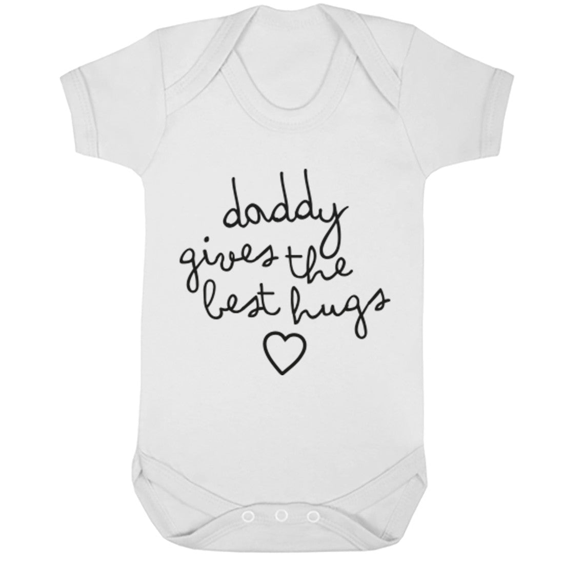 Daddy Gives The Best Hugs Baby Vest K1667 - Illustrated Identity Ltd.
