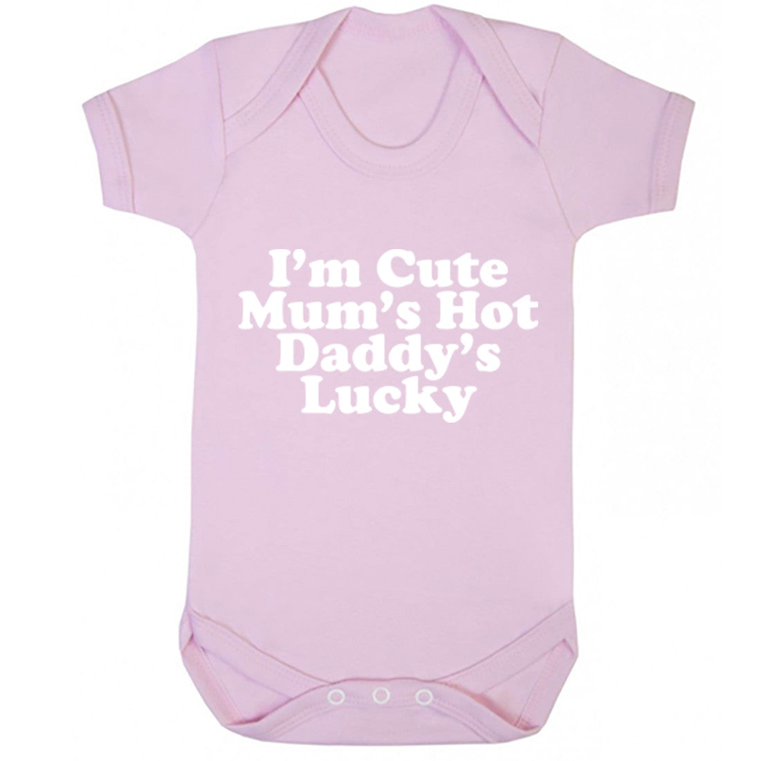 I'm Cute Mum's Hot Daddy's Lucky Baby Vest K1671 - Illustrated Identity Ltd.