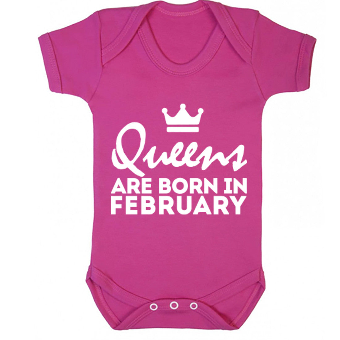 Queens Are Born In February Baby Vest K1673 - Illustrated Identity Ltd.