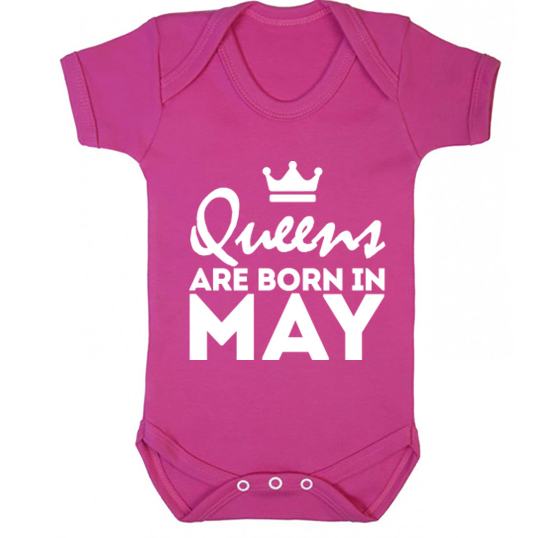 Queens Are Born In May Baby Vest K1676 - Illustrated Identity Ltd.