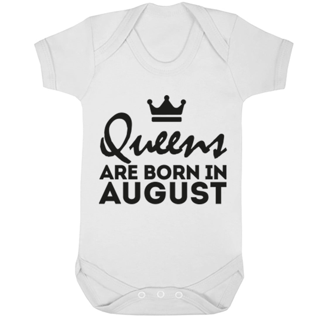 Queens Are Born In August Baby Vest K1679 - Illustrated Identity Ltd.