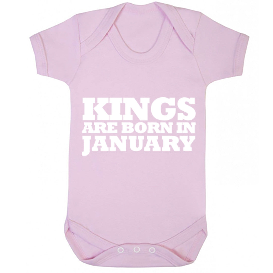 Kings Are Born In January Baby Vest K1684 - Illustrated Identity Ltd.