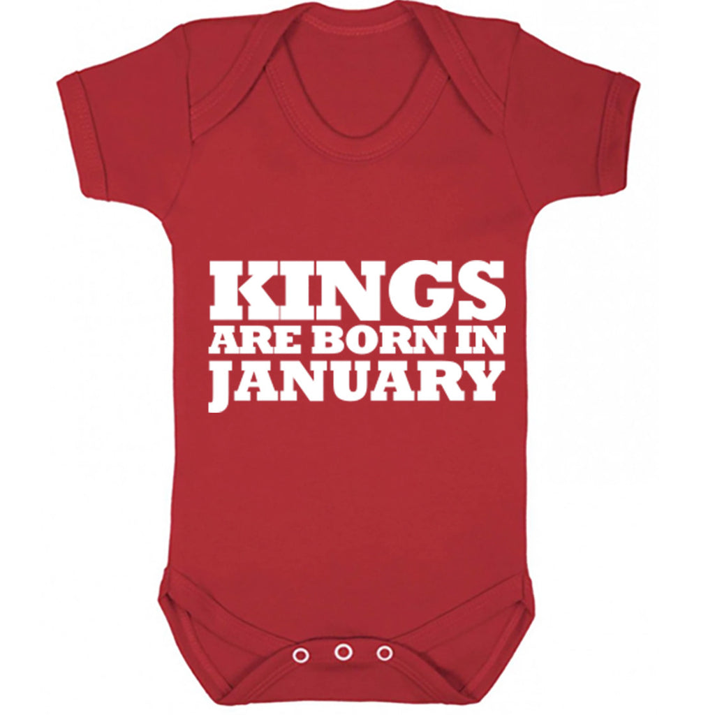 Kings Are Born In January Baby Vest K1684