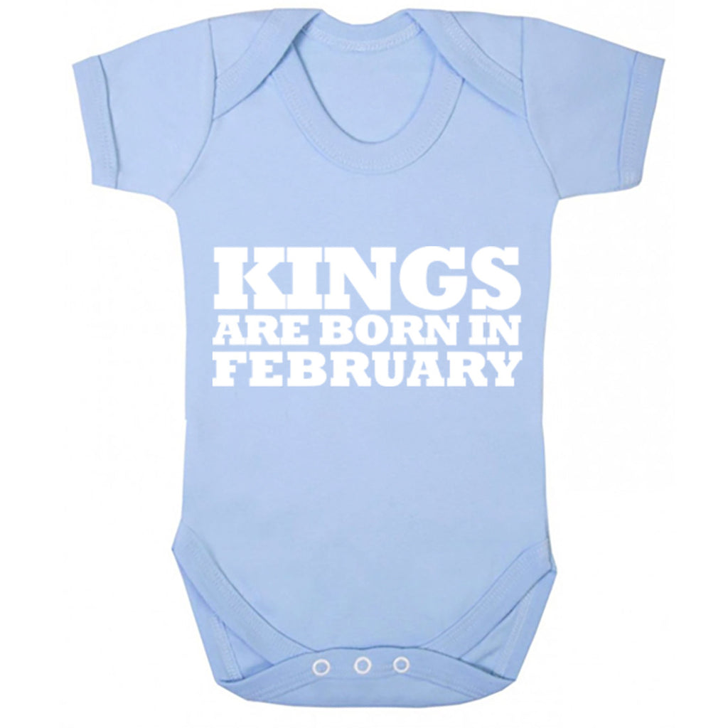 Kings Are Born In February Baby Vest K1685