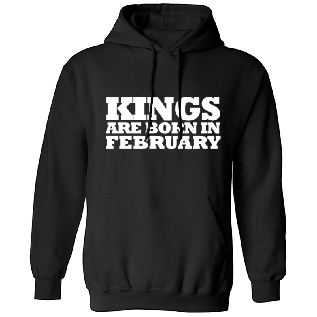 Kings Are Born In February Unisex Hoodie K1685 - Illustrated Identity Ltd.