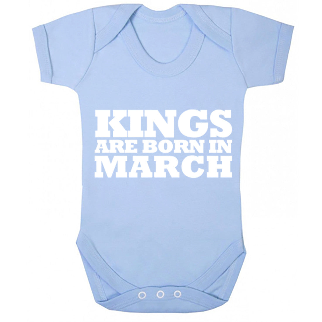 Kings Are Born In March Baby Vest K1686 - Illustrated Identity Ltd.