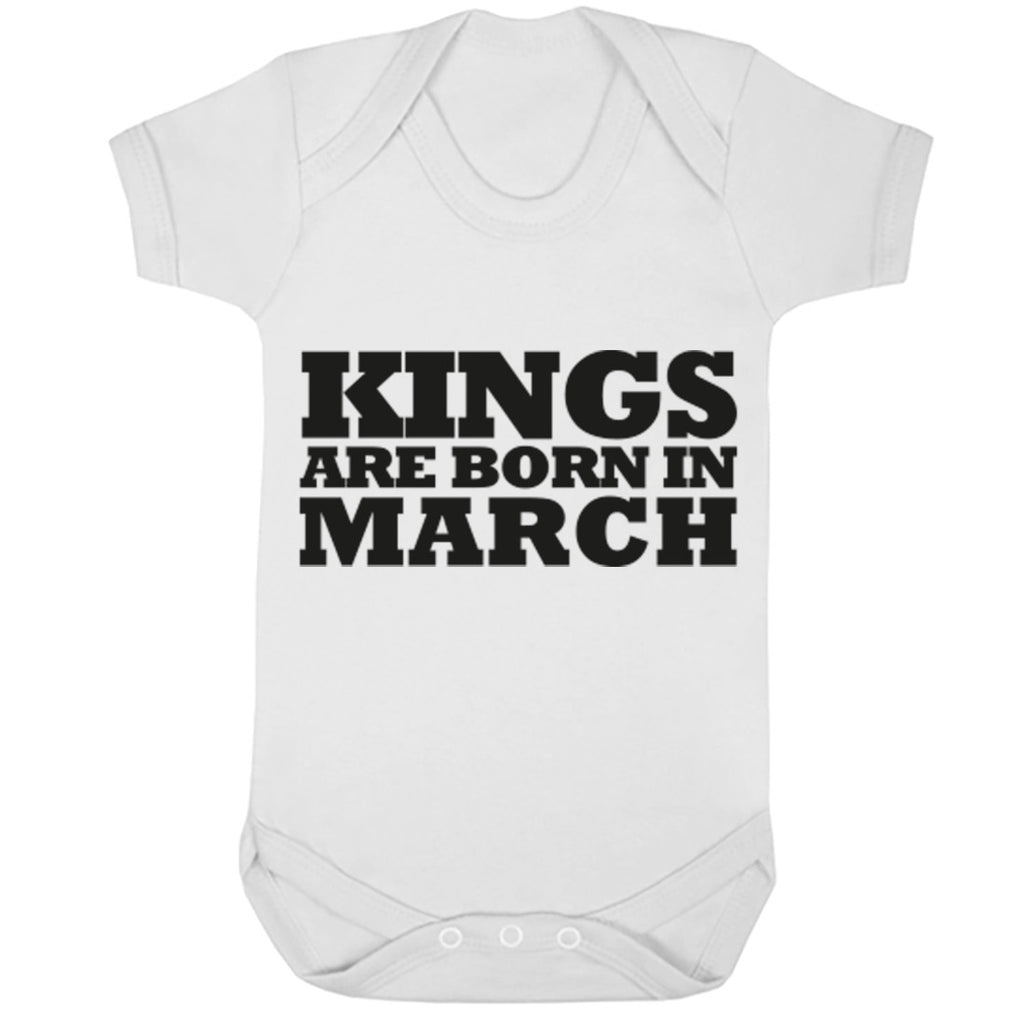 Kings Are Born In March Baby Vest K1686