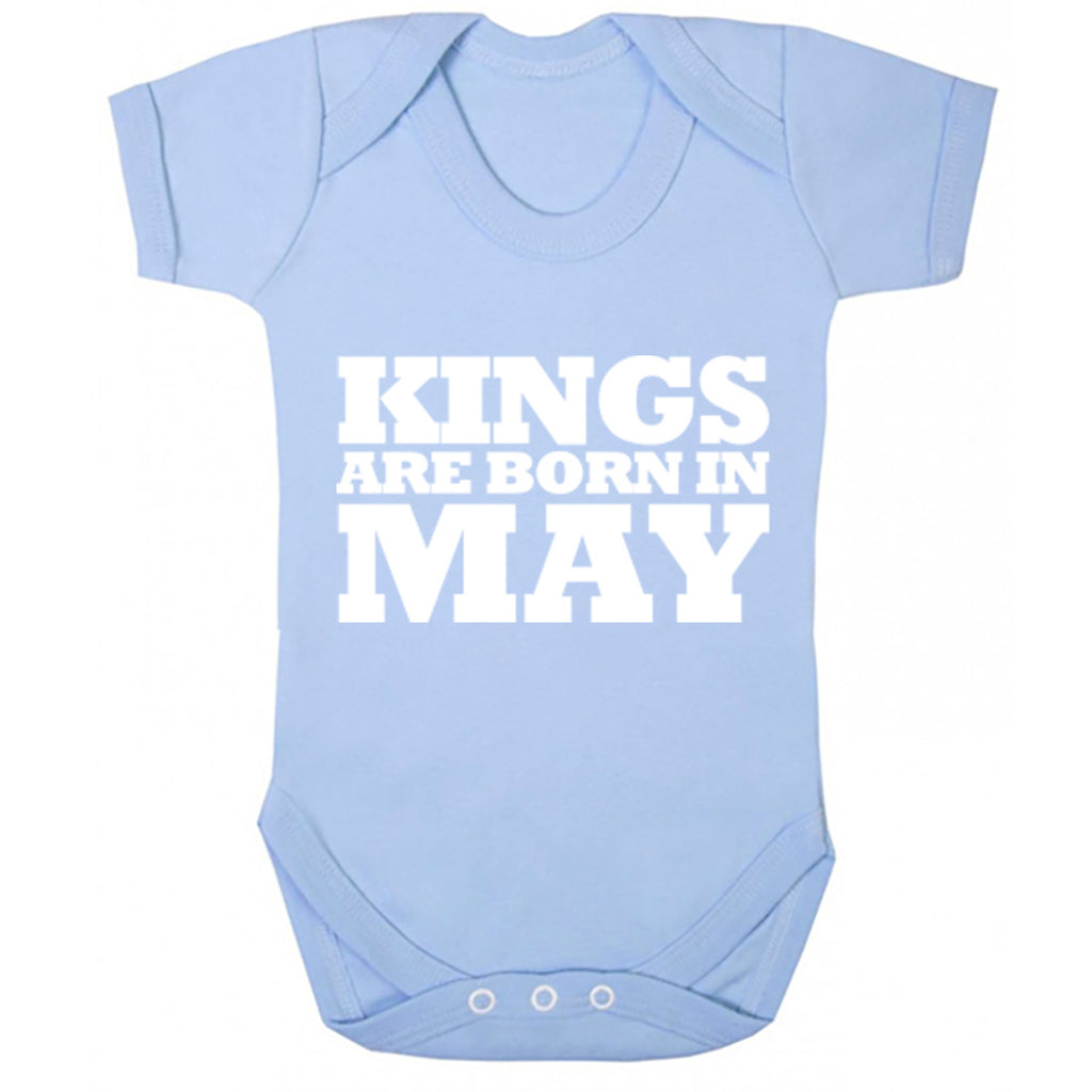 Kings Are Born In May Baby Vest K1688