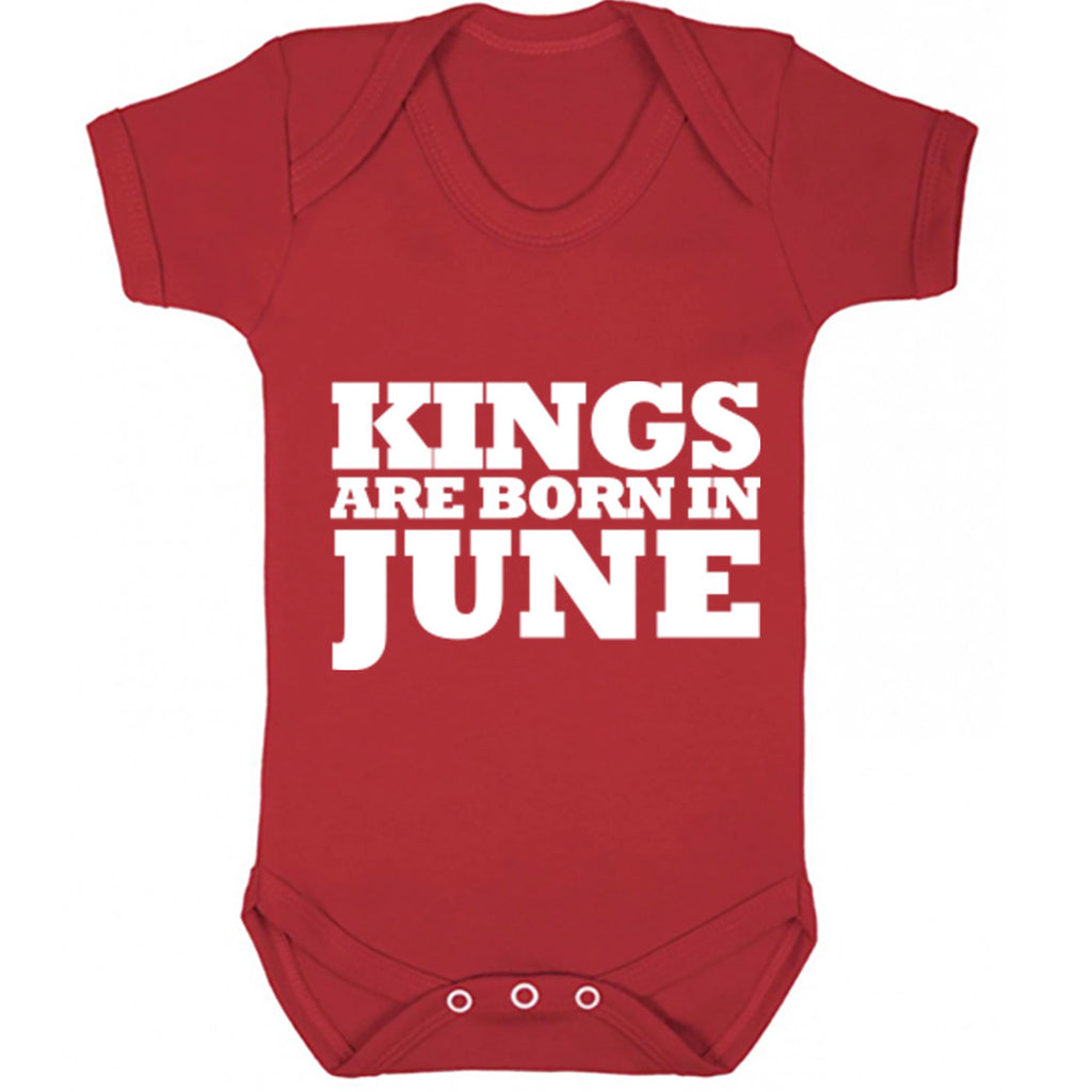 Kings Are Born In June Baby Vest K1689