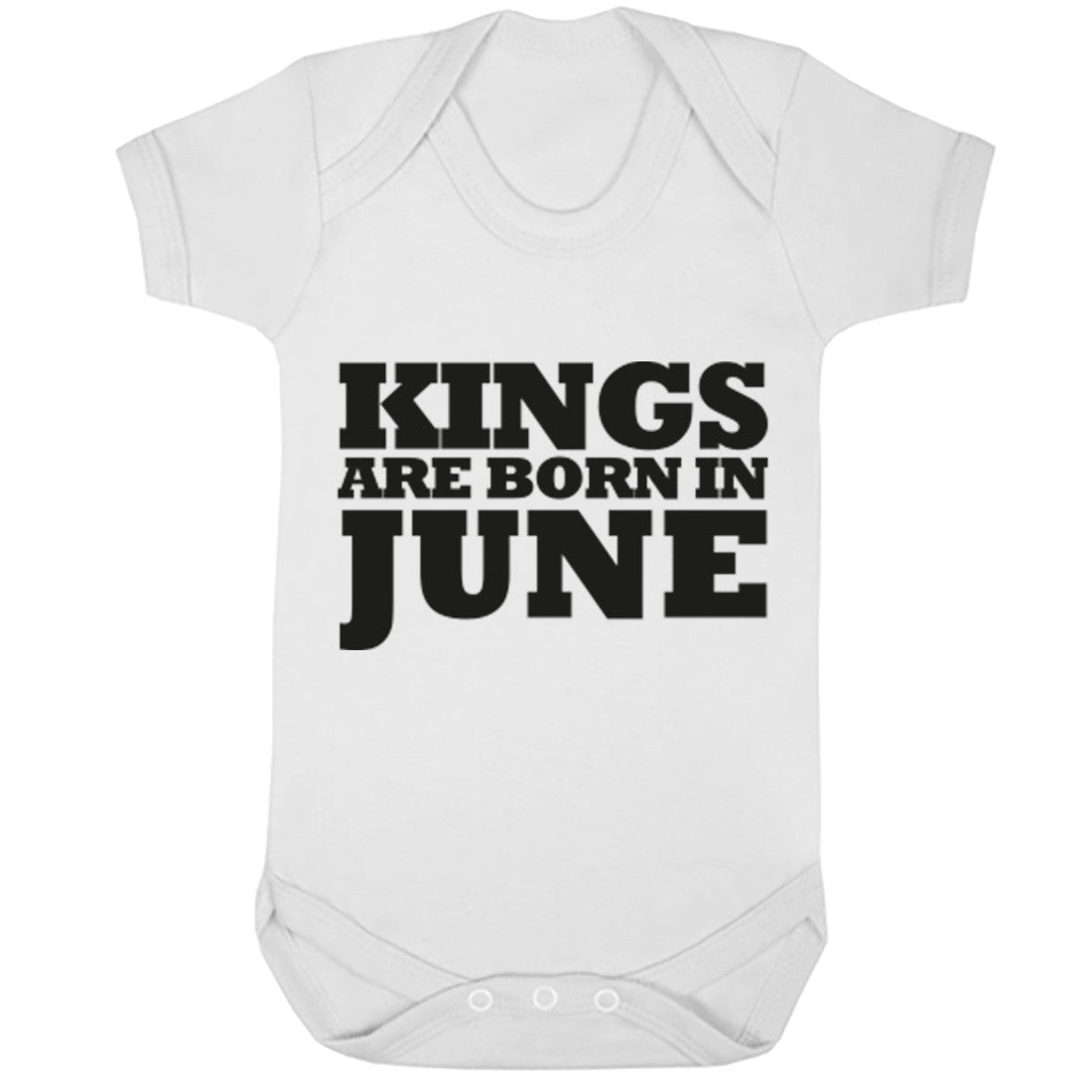 Kings Are Born In June Baby Vest K1689 - Illustrated Identity Ltd.