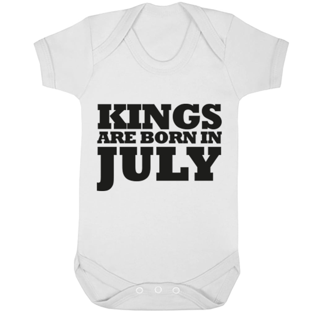 Kings Are Born In July Baby Vest K1690