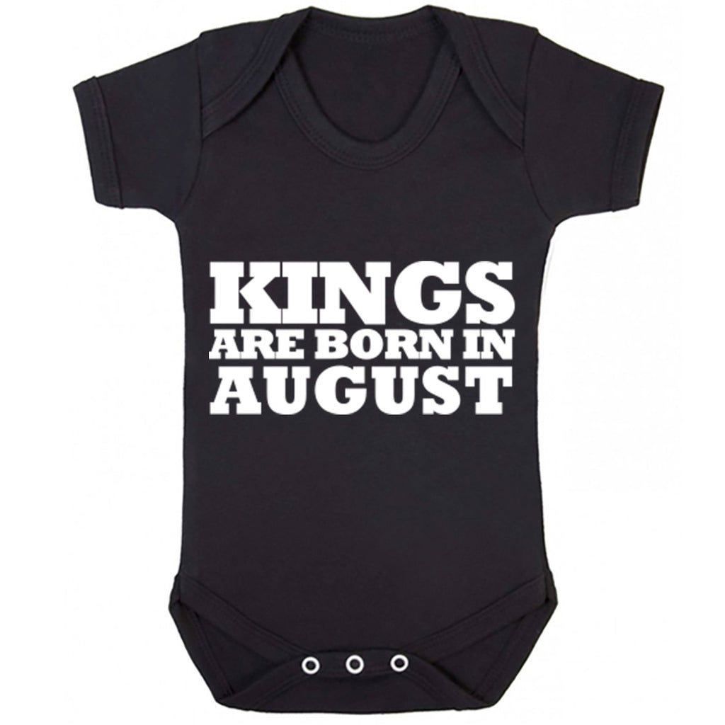 Kings Are Born In August Baby Vest K1691
