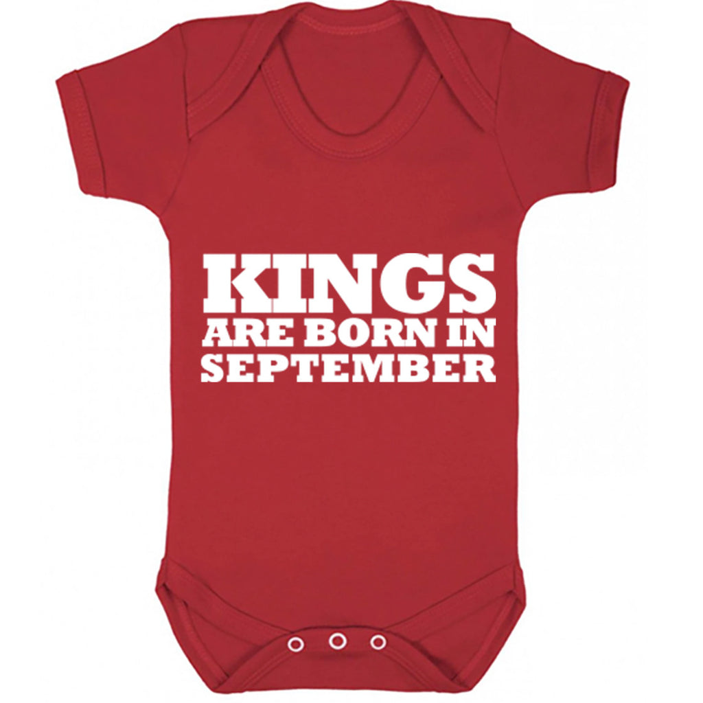 Kings Are Born In September Baby Vest K1692