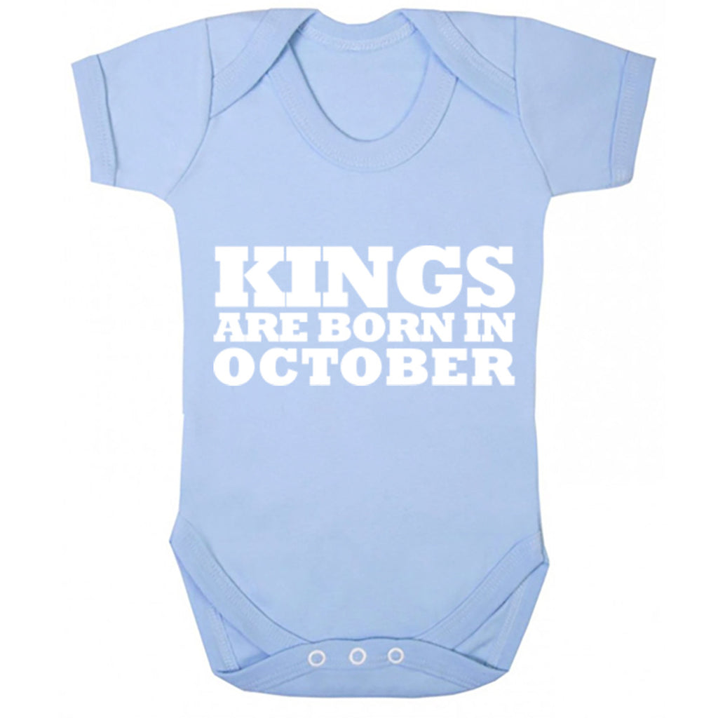 Kings Are Born In October Baby Vest K1693