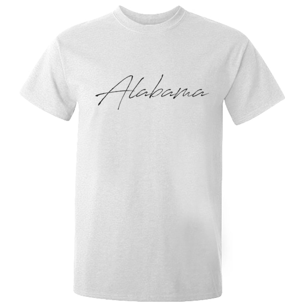 Alabama Script Unisex Fit T-Shirt K1701