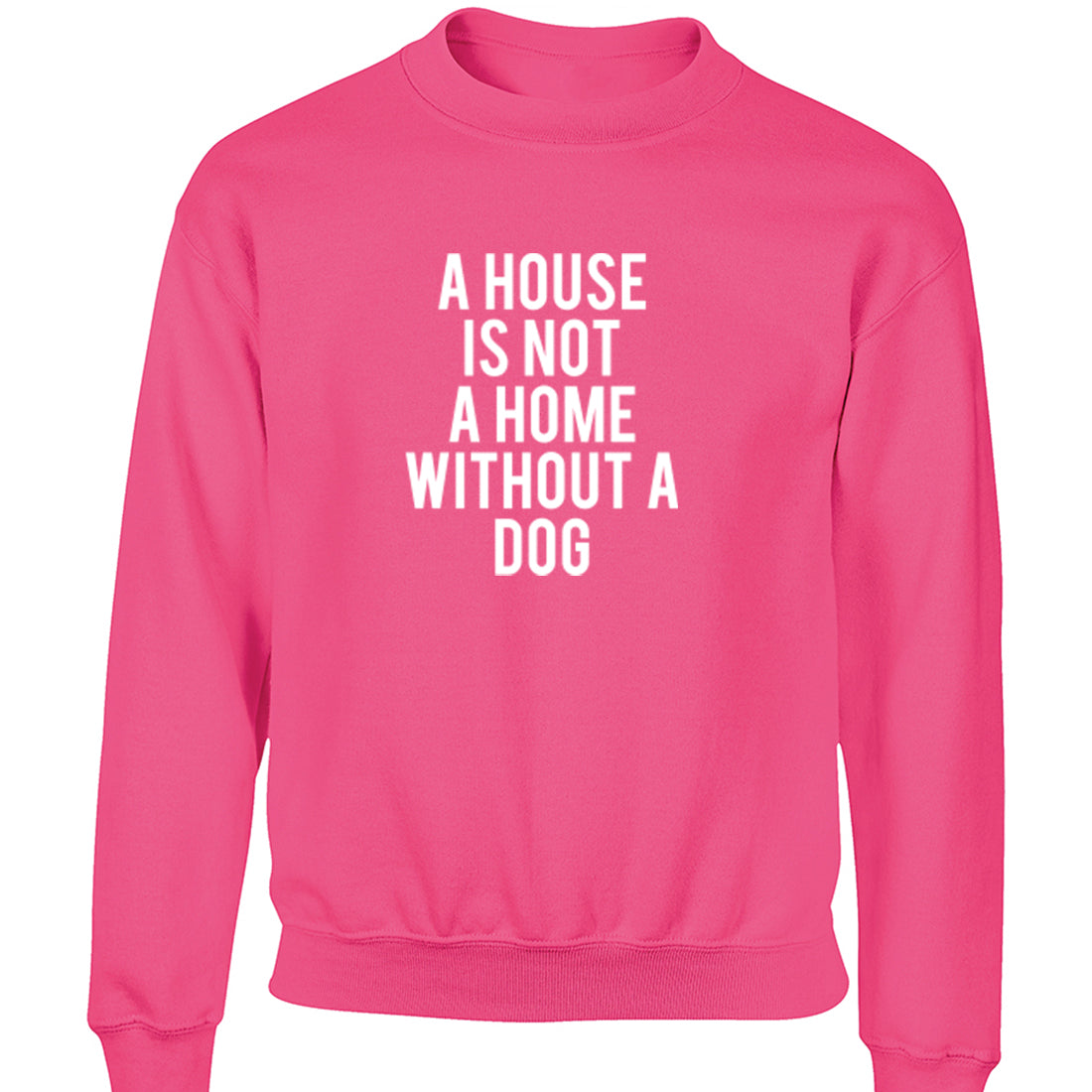 A House Is Not A Home Without A Dog Childrens Ages 3/4-12/14 Unisex Jumper K1847