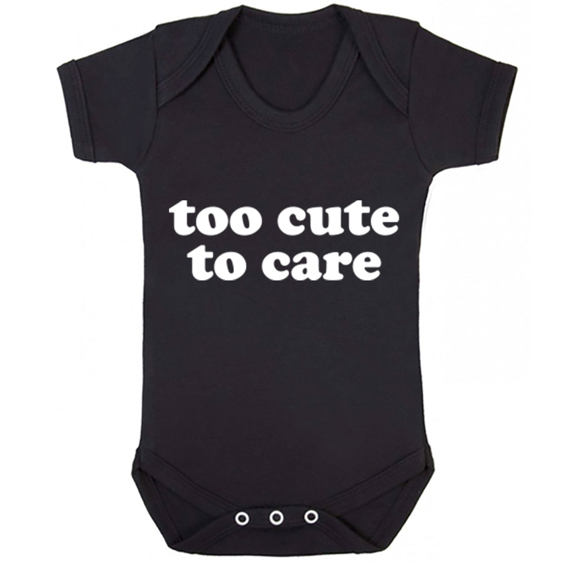 Too Cute To Care Baby Vest K1870 - Illustrated Identity Ltd.
