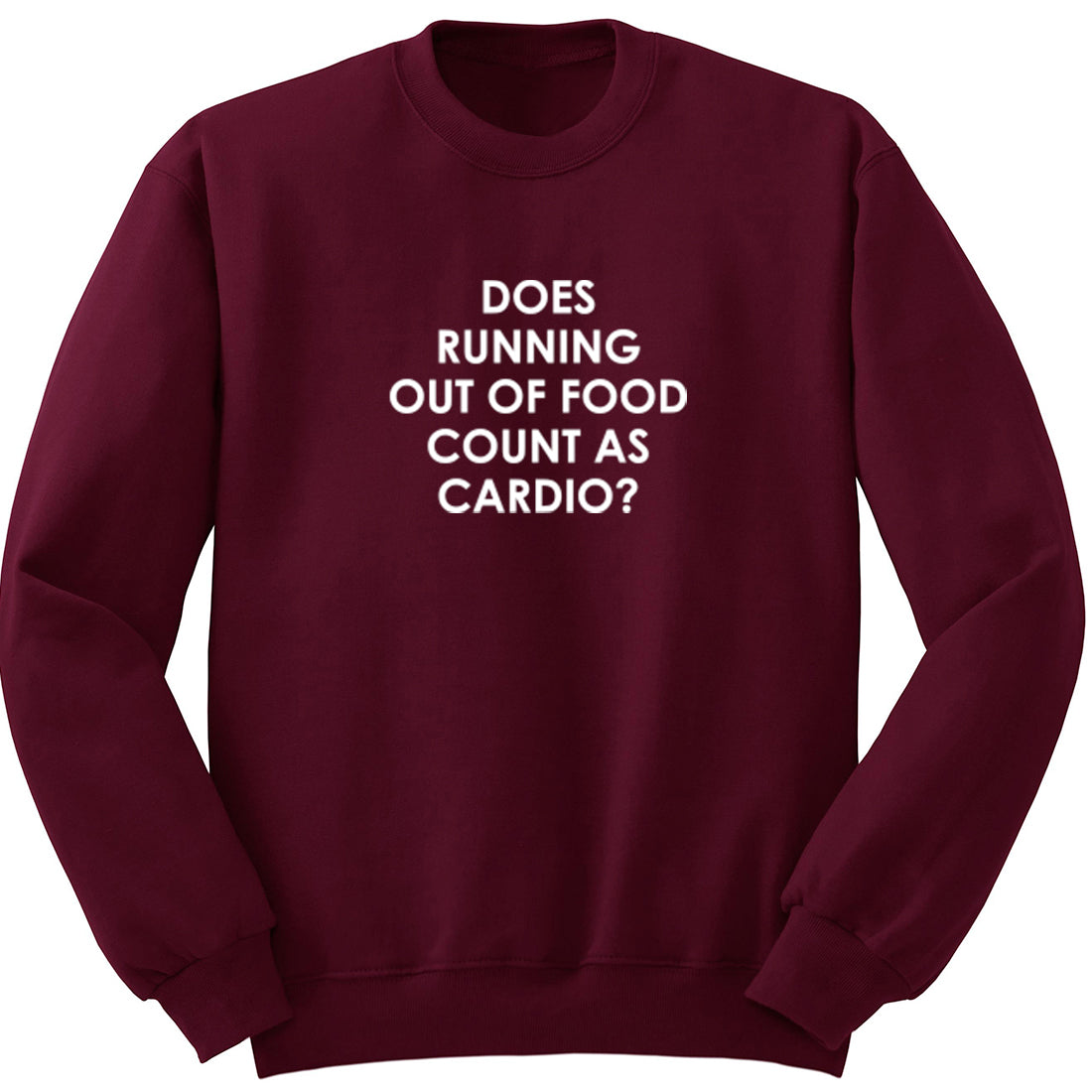 Does Running Out Of Food Count As Cardio? Unisex Jumper K2071 - Illustrated Identity Ltd.