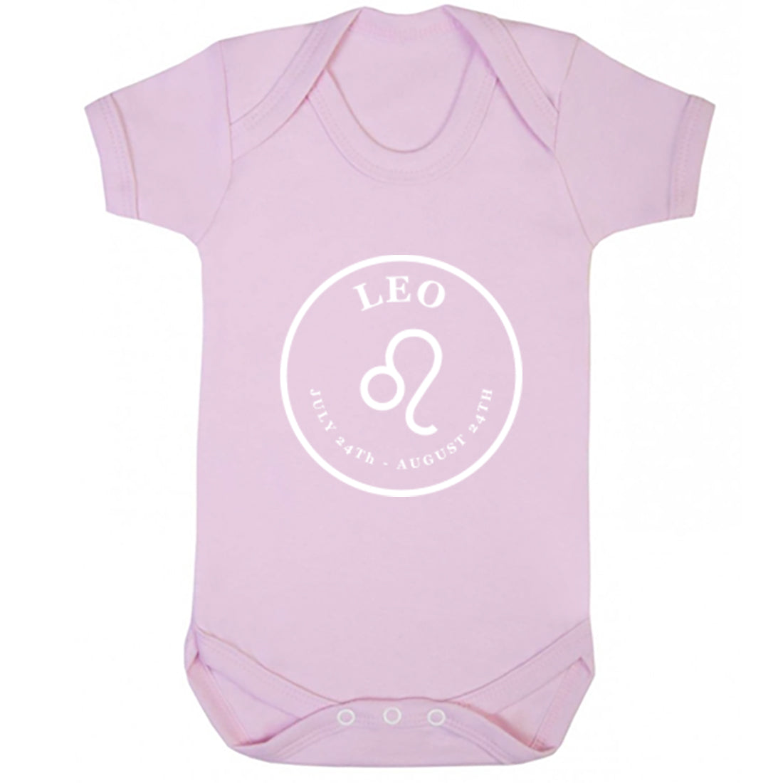 Leo Zodiac Sign Dates Baby Vest K2103 - Illustrated Identity Ltd.