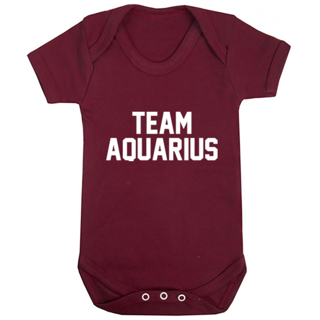 Team Aquarius Zodiac Sign Baby Vest K2123 - Illustrated Identity Ltd.