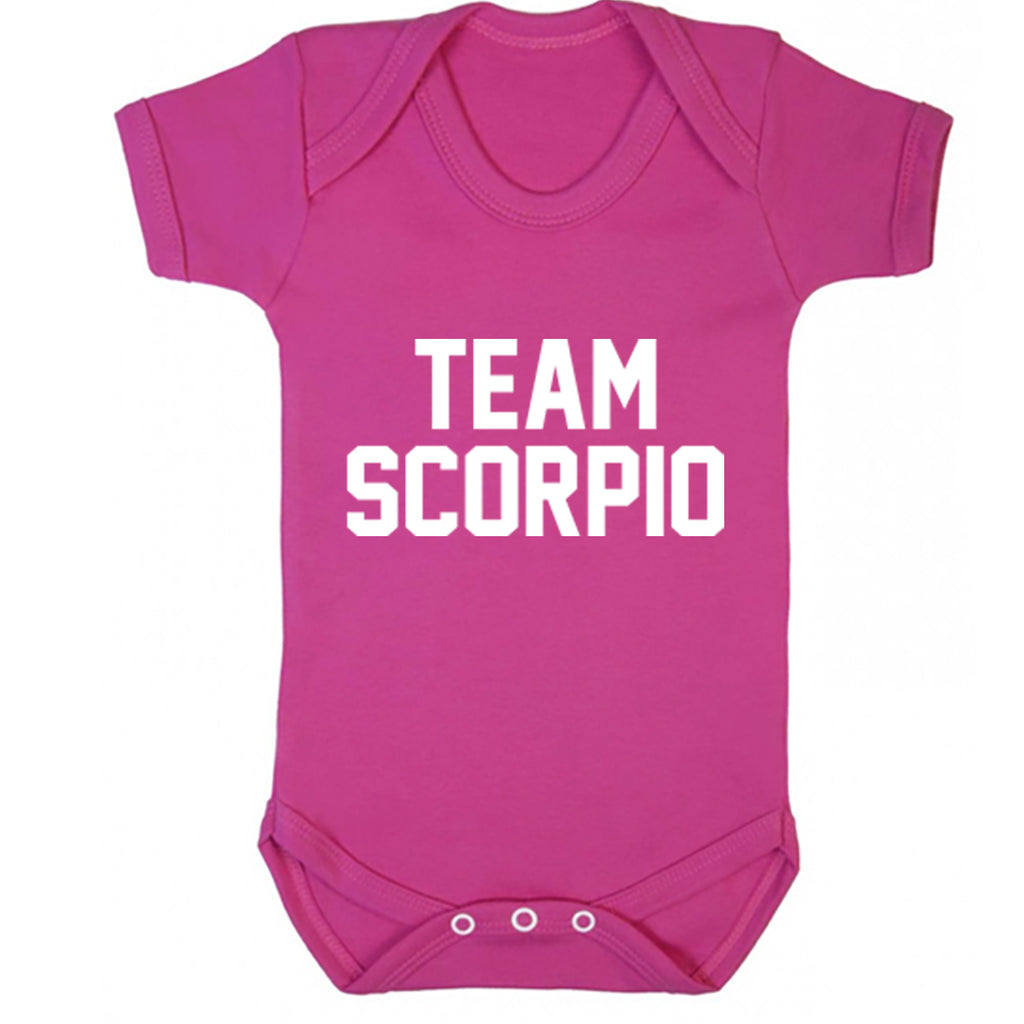Team Scorpio Zodiac Sign Baby Vest K2131