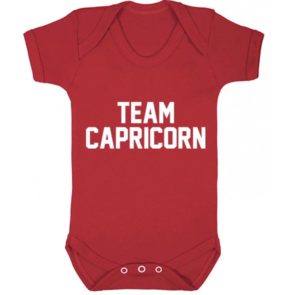 Team Capricorn Zodiac Sign Baby Vest K2133