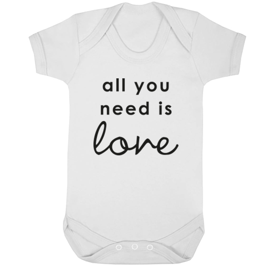 All You Need Is Love Baby Vest K2264