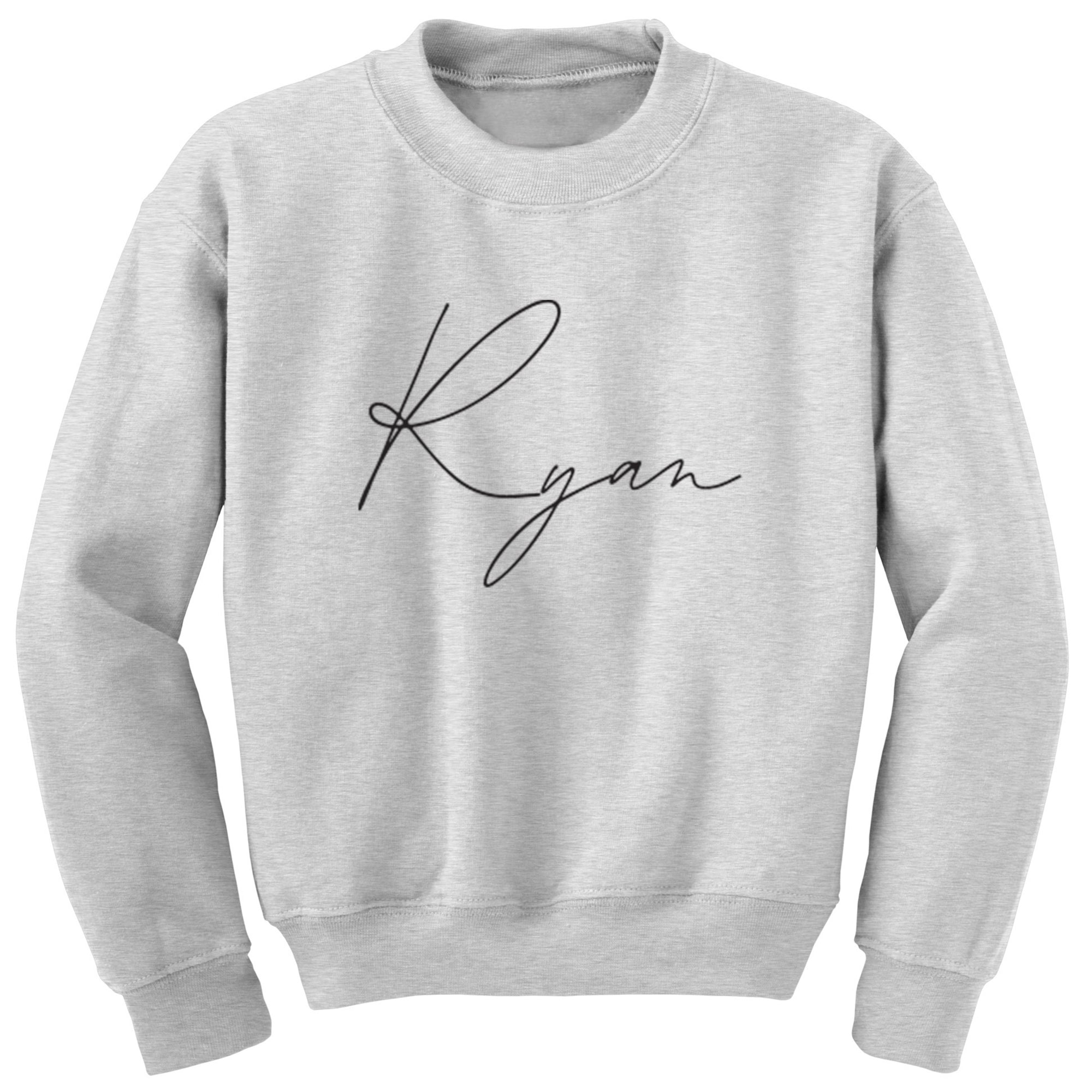 Personalised Name Script Design Childrens Ages 3/4-12/14 Unisex Jumper K2314