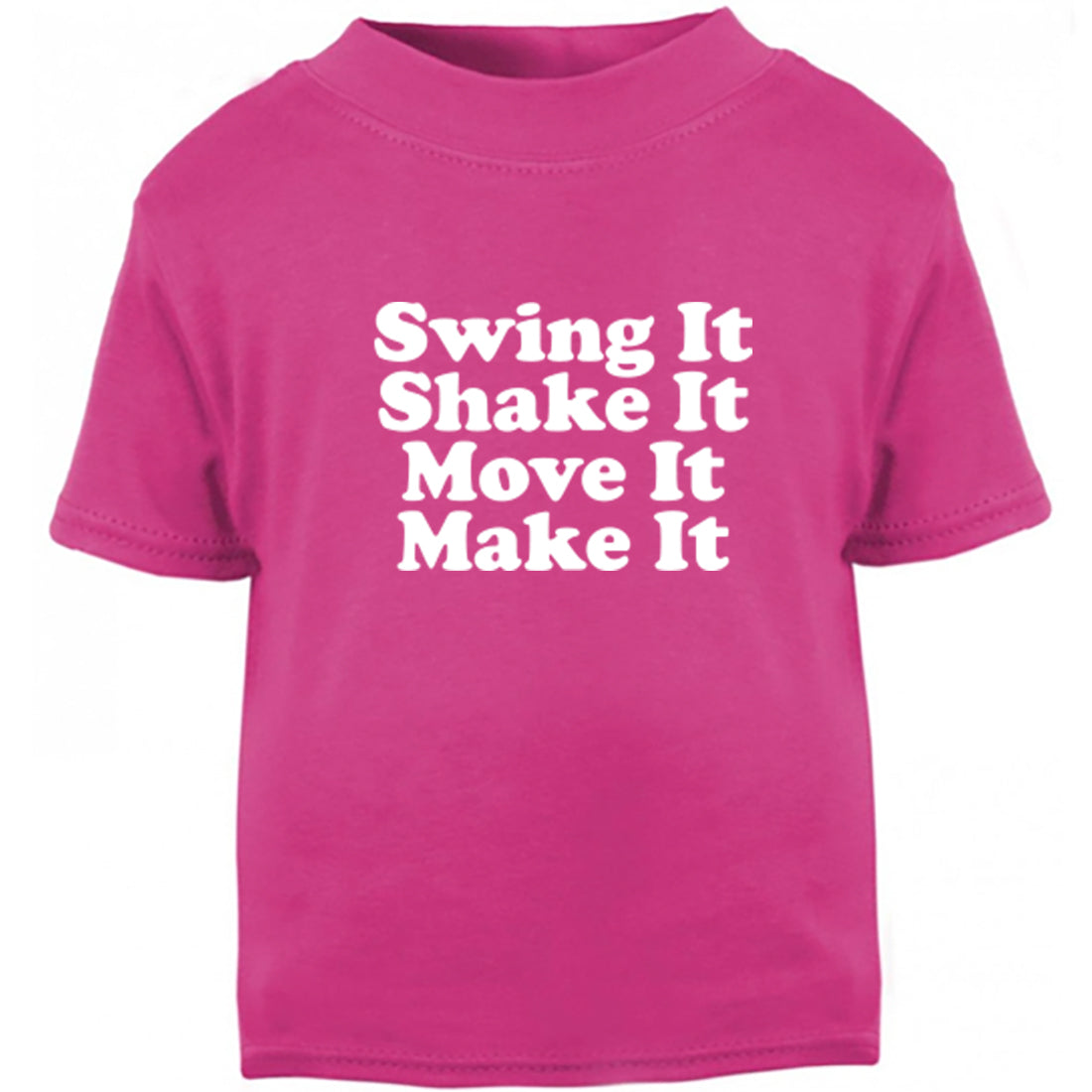 Swing It Shake It Move It Make It-Spice Girls Childrens Ages 3/4-12/14 Unisex Fit T-Shirt K2430 - Illustrated Identity Ltd.