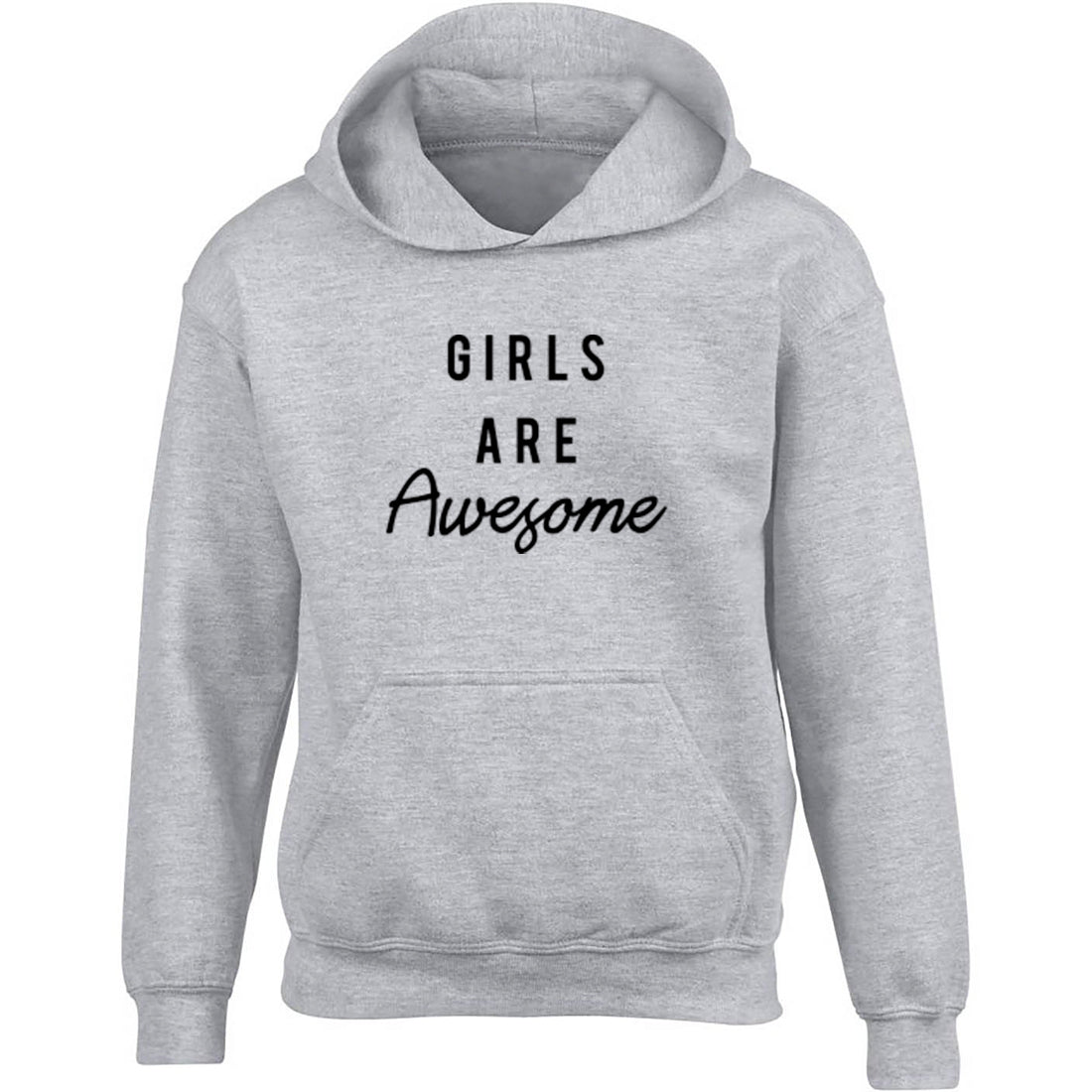 Girls Are Awesome Childrens Ages 3/4-12/14 Unisex Hoodie K2455