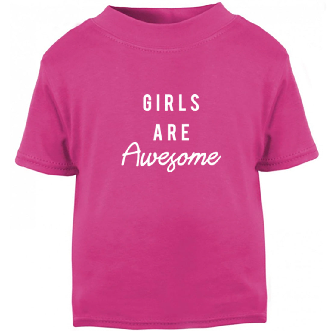 Girls Are Awesome Childrens Ages 3/4-12/14 Unisex Fit T-Shirt K2455 - Illustrated Identity Ltd.