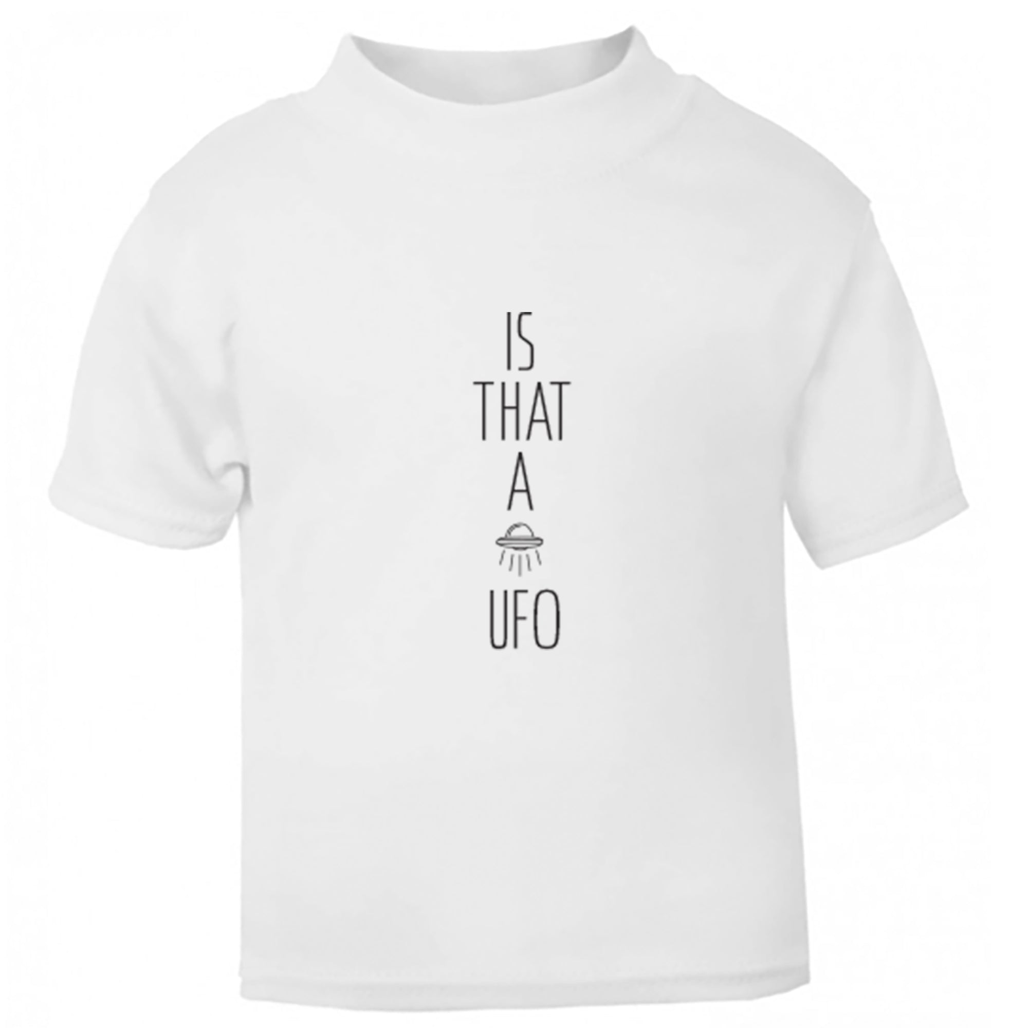 Is That A UFO? Childrens Ages 3/4-12/14 Unisex Fit T-Shirt S0002 - Illustrated Identity Ltd.