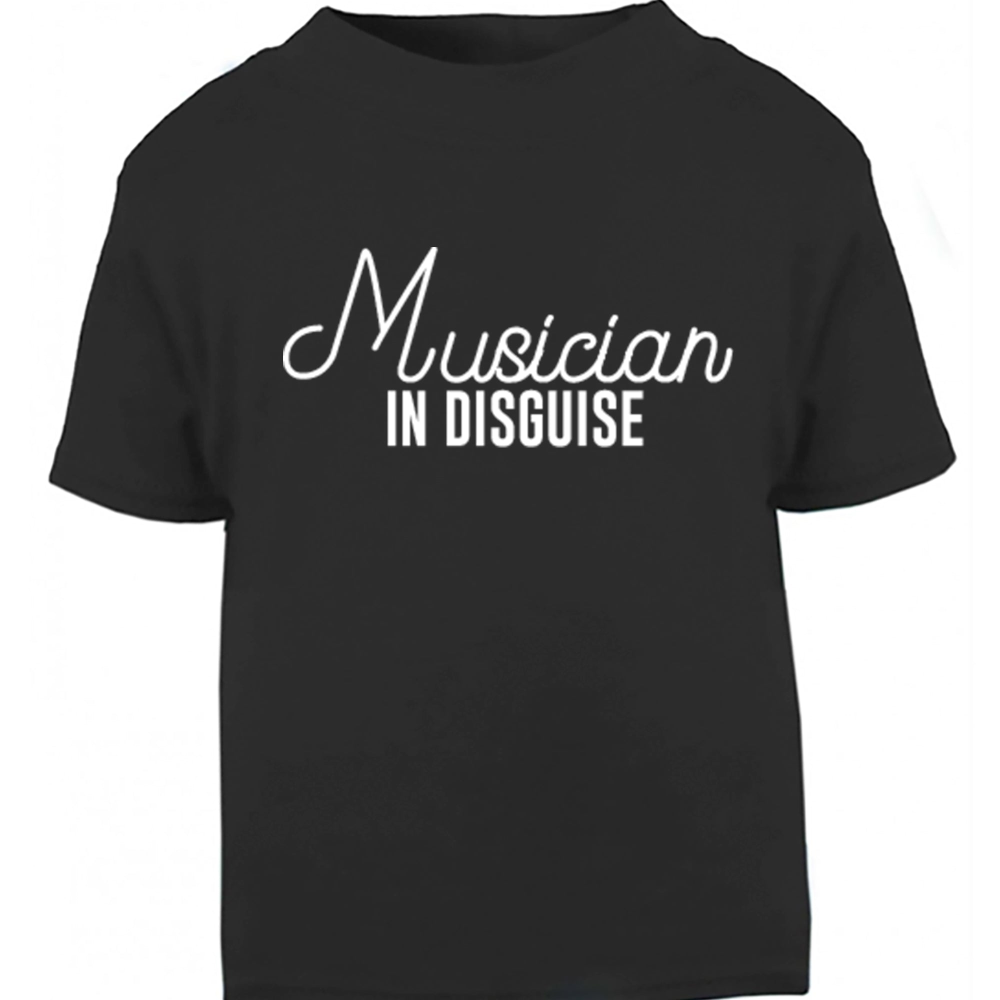 Musician In Disguise Childrens Ages 3/4-12/14 Unisex Fit T-Shirt S0050 - Illustrated Identity Ltd.