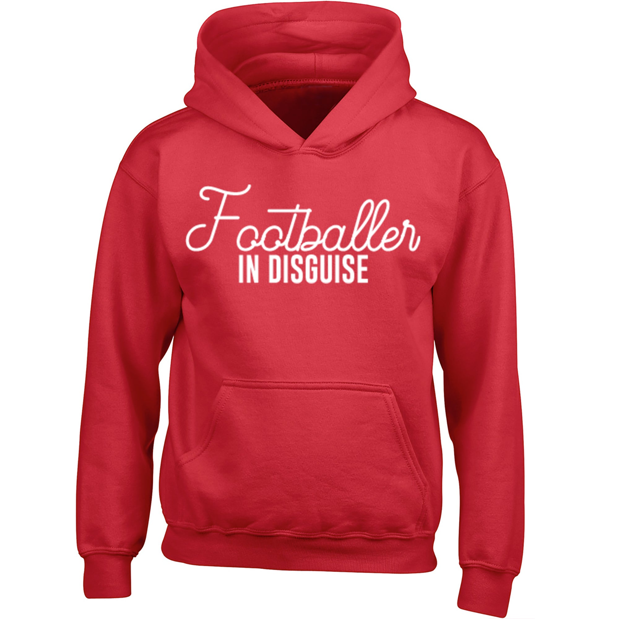 Footballer In Disguise Childrens Ages 3/4-12/14 Unisex Hoodie S0054 - Illustrated Identity Ltd.
