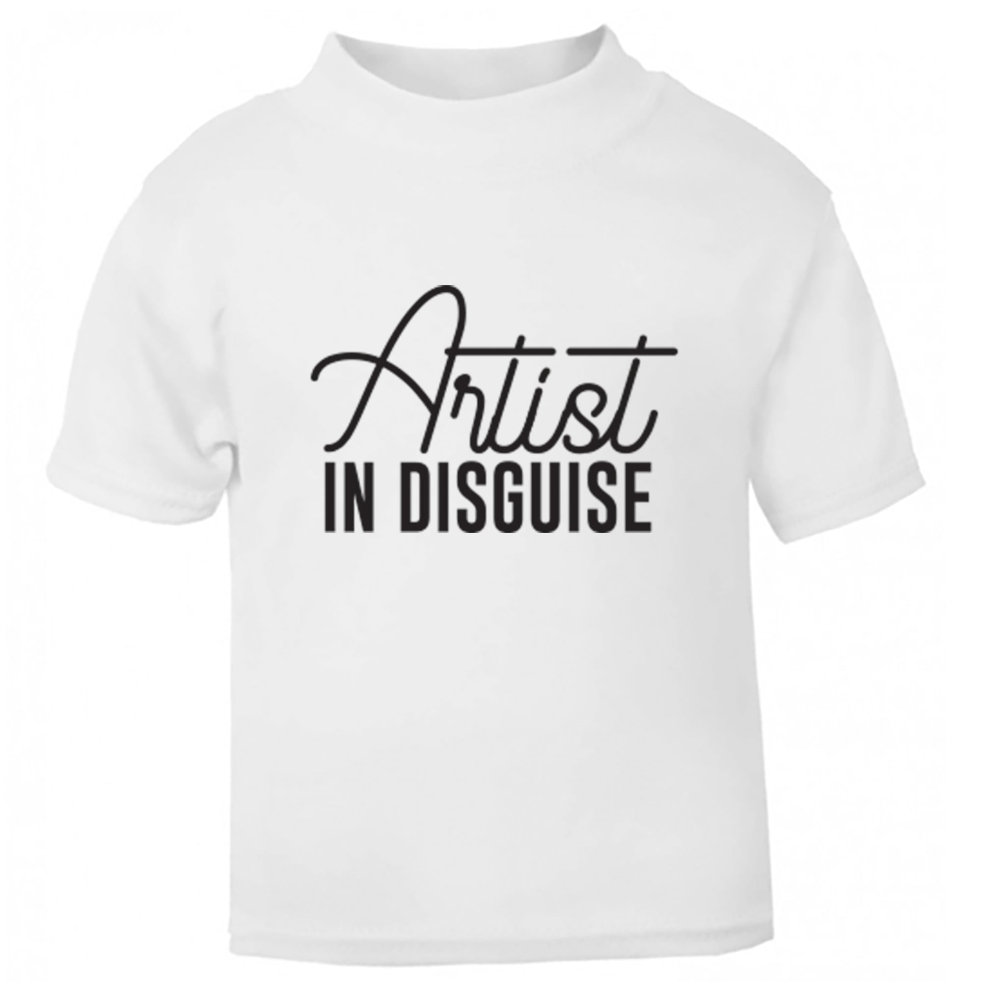 Artist In Disguise Childrens Ages 3/4-12/14 Unisex Fit T-Shirt S0070 - Illustrated Identity Ltd.