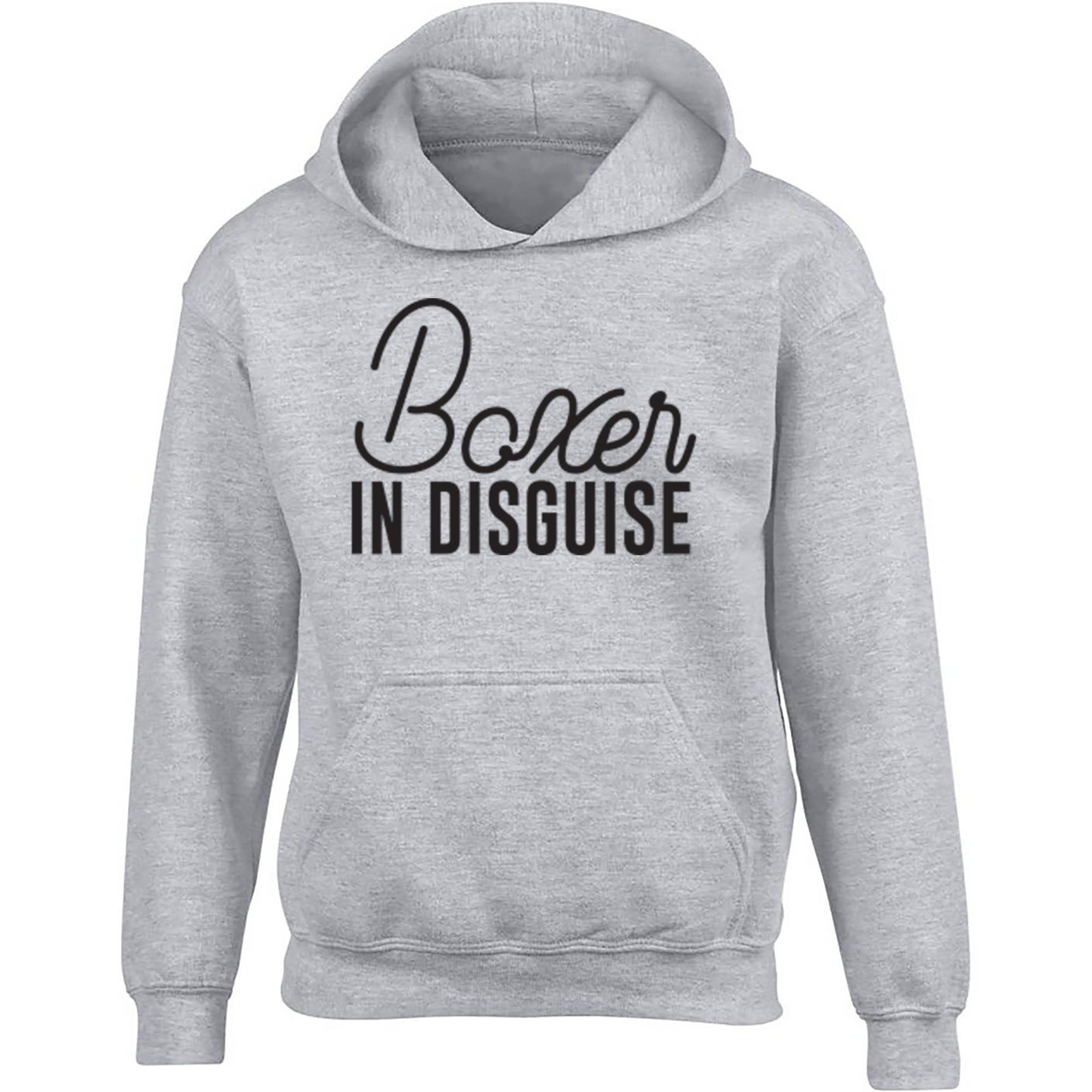 Boxer In Disguise Childrens Ages 3/4-12/14 Unisex Hoodie S0071 - Illustrated Identity Ltd.
