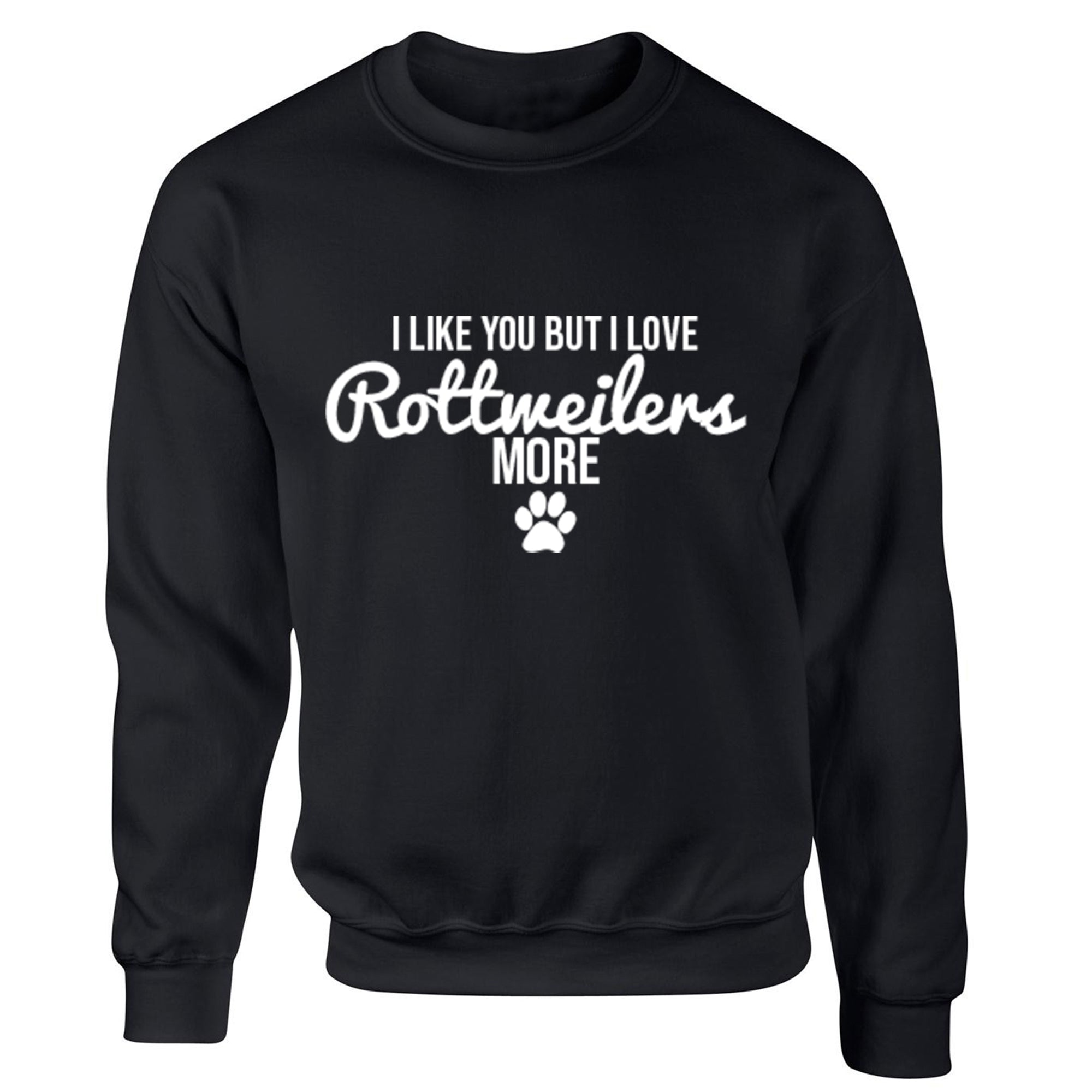 I Like You But I Love Rottweilers More Unisex Jumper S0094 - Illustrated Identity Ltd.