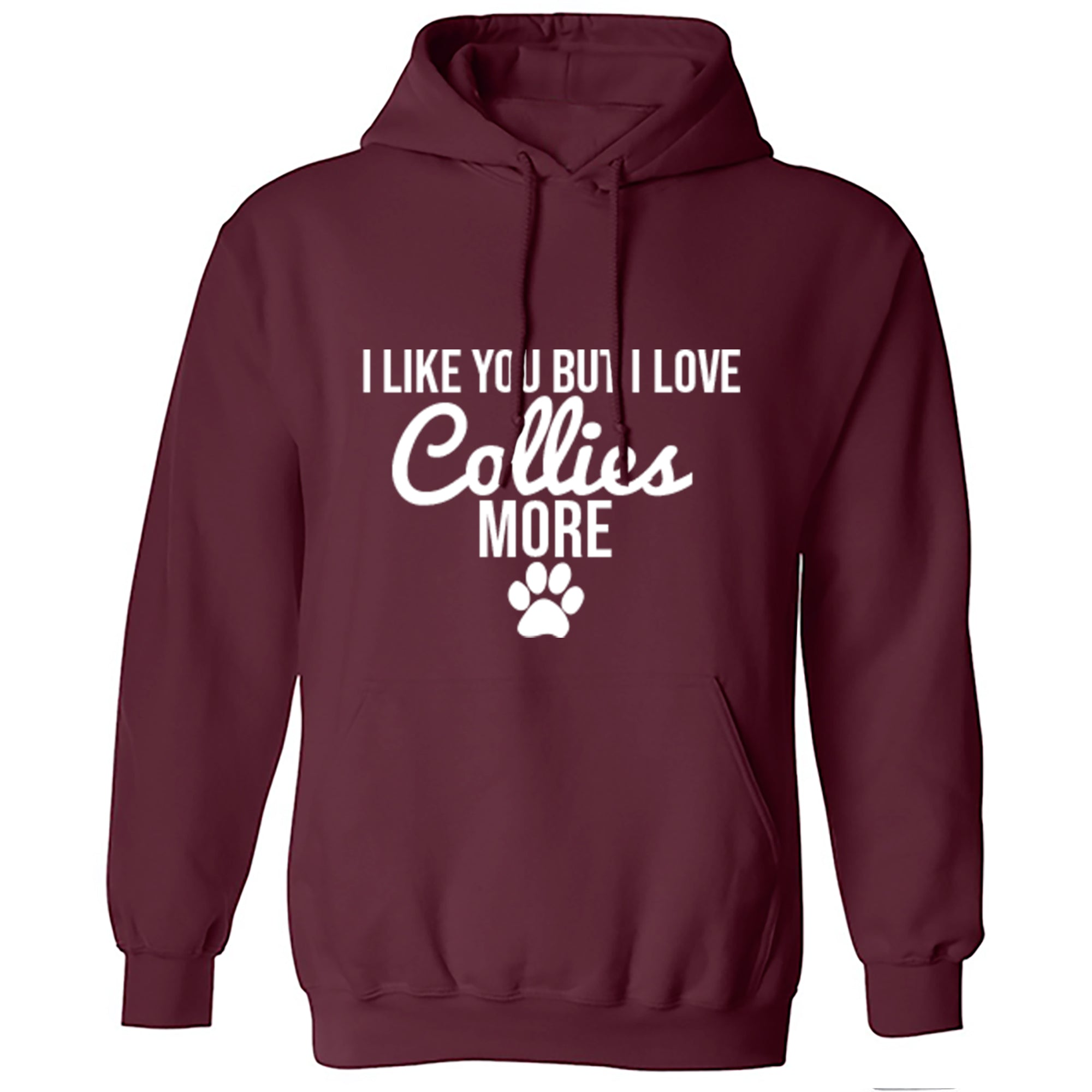 I Like You But I Love Collies More Unisex Hoodie S0096 - Illustrated Identity Ltd.
