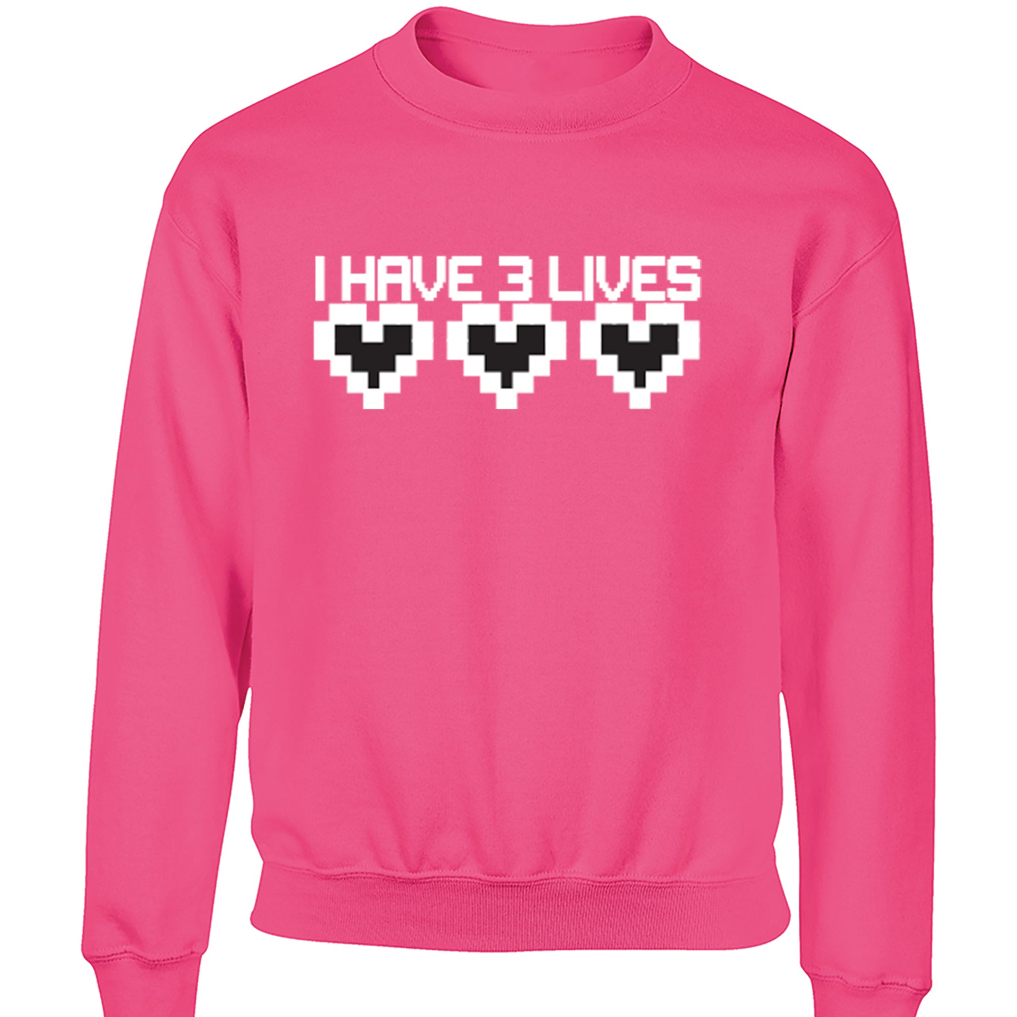 I Have Three Lives Childrens Ages 3/4-12/14 Unisex Jumper S0167 - Illustrated Identity Ltd.