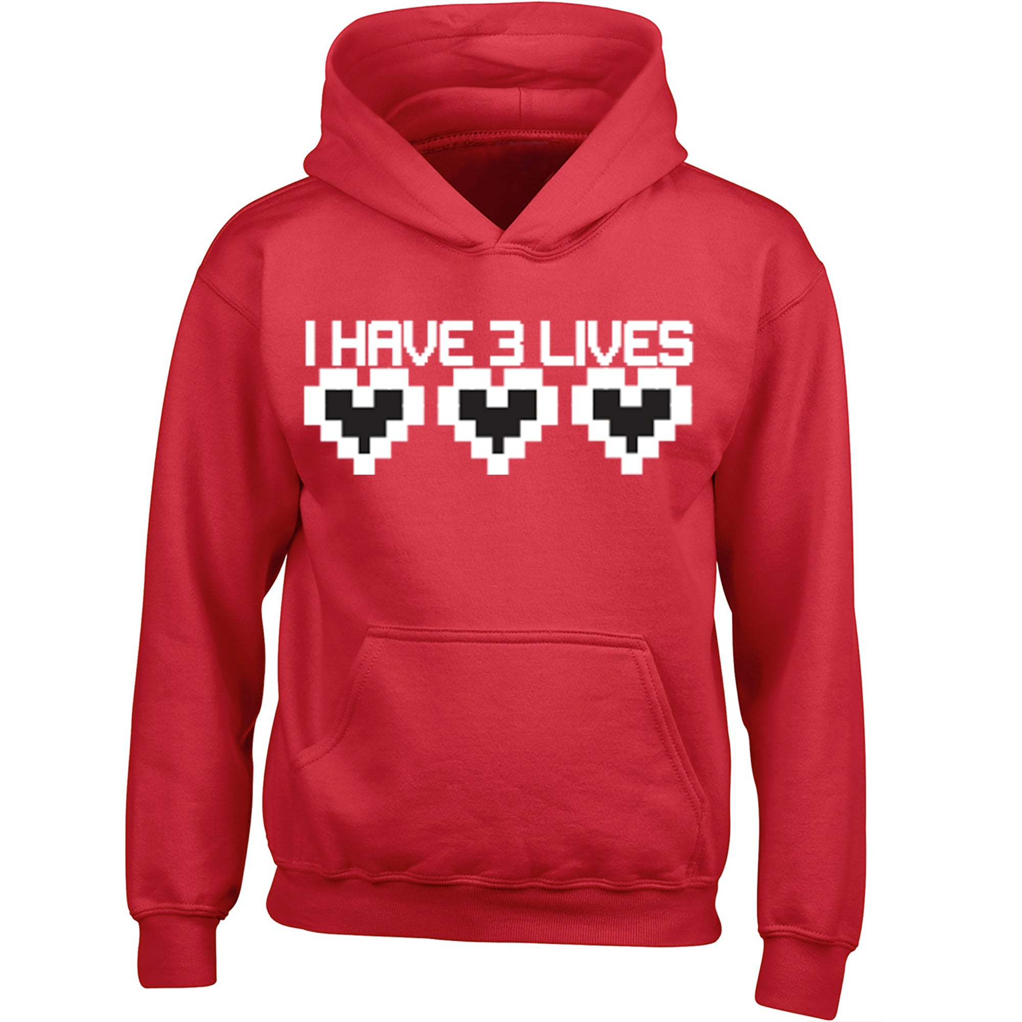 I Have Three Lives Childrens Ages 3/4-12/14 Unisex Hoodie S0167 - Illustrated Identity Ltd.