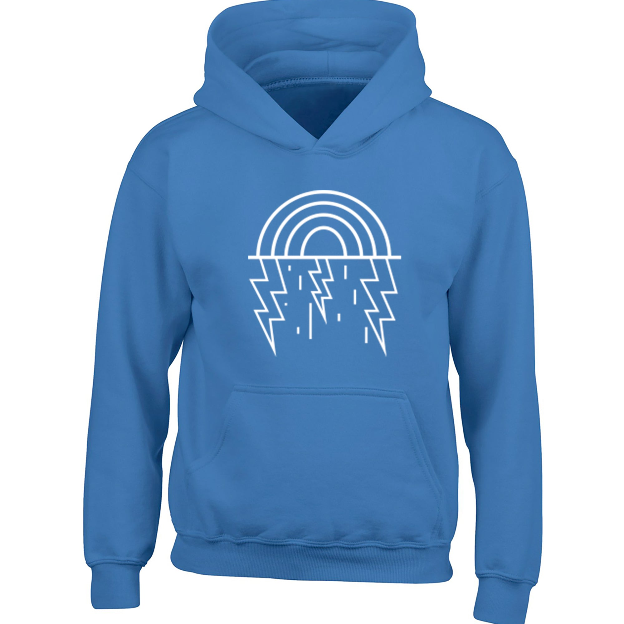 Rainbow And Lightening Childrens Ages 3/4-12/14 Unisex Hoodie S0360 - Illustrated Identity Ltd.