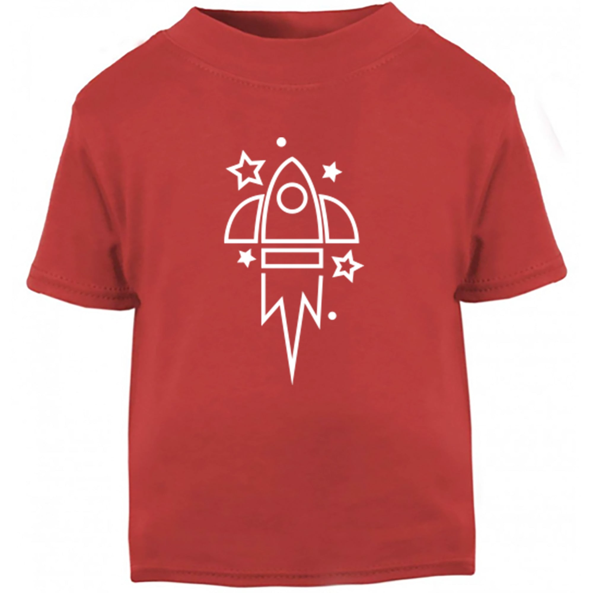 Rocket Ship Childrens Ages 3/4-12/14 Unisex Fit T-Shirt S0361 - Illustrated Identity Ltd.