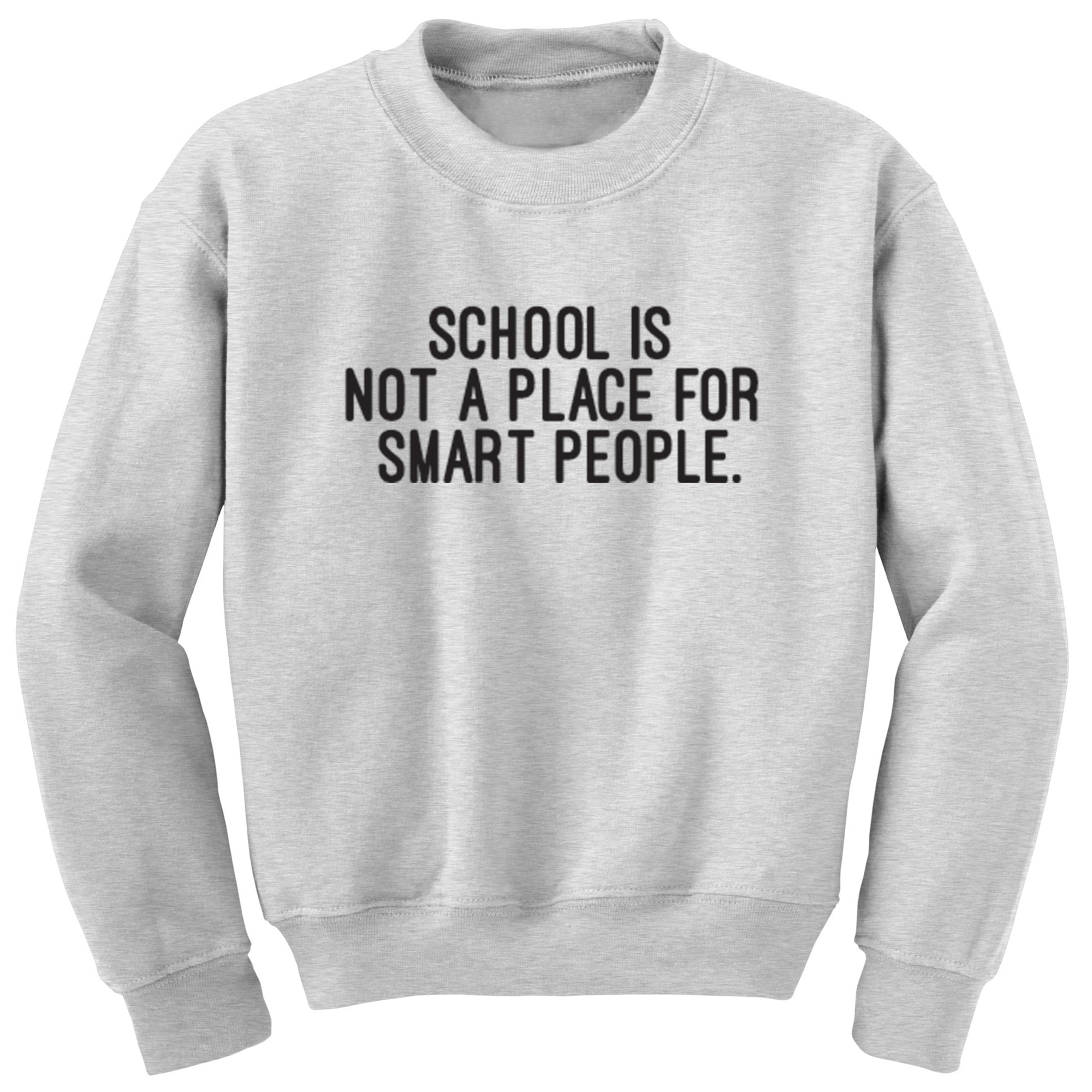School Is Not A Place For Smart People Unisex Jumper S0404 - Illustrated Identity Ltd.