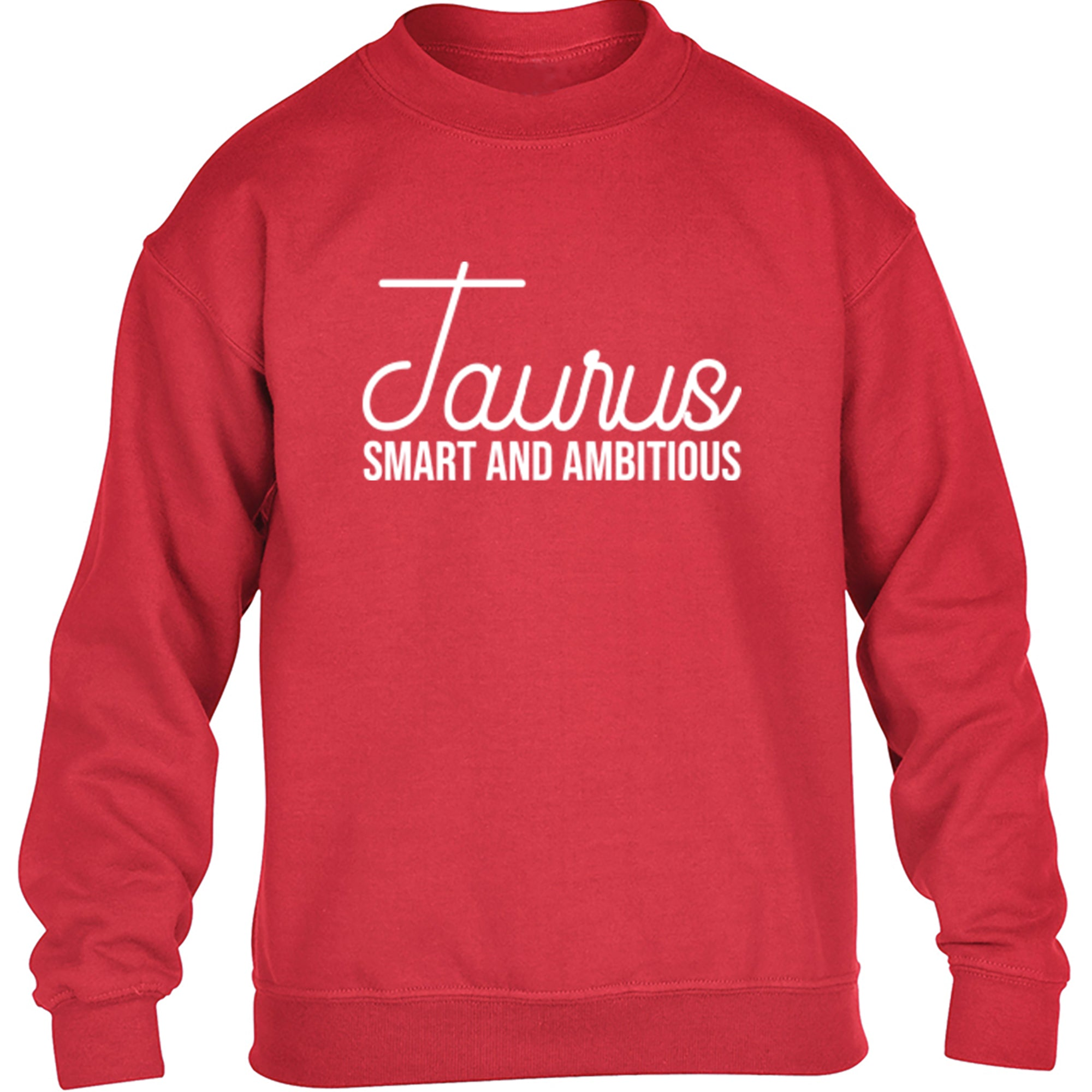 Taurus, Smart And Ambitious Childrens Ages 3/4-12/14 Unisex Jumper S0436 - Illustrated Identity Ltd.