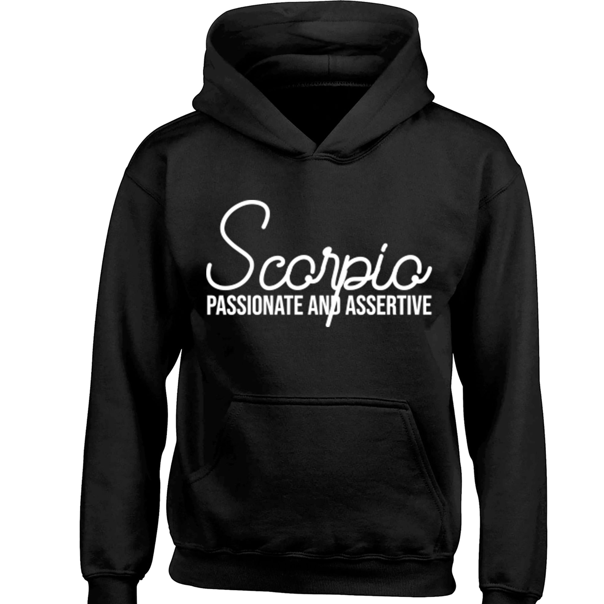 Scorpio, Passionate And Assertive Childrens Ages 3/4-12/14 Unisex Hoodie S0443 - Illustrated Identity Ltd.