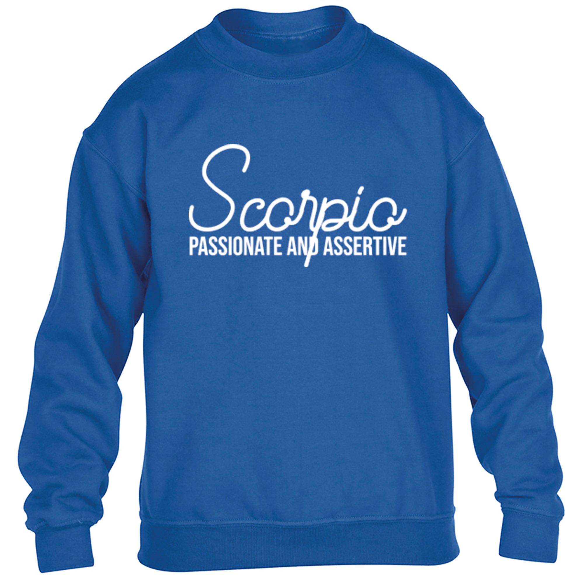 Scorpio, Passionate And Assertive Childrens Ages 3/4-12/14 Unisex Jumper S0443 - Illustrated Identity Ltd.