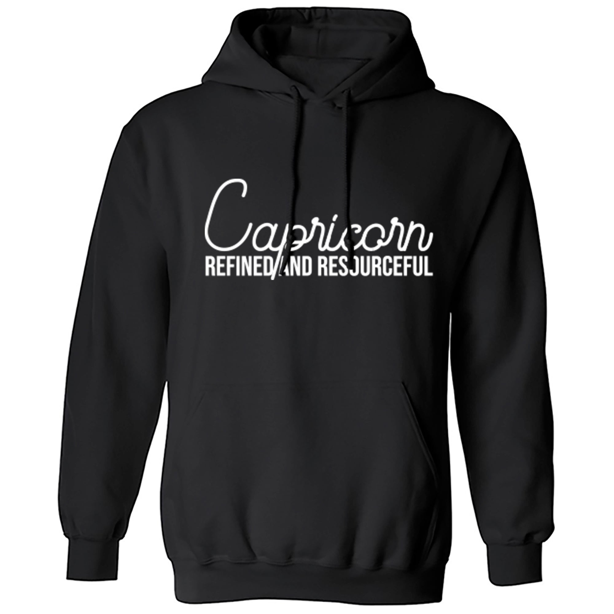 Capricorn, Refined And Resourceful Unisex Hoodie S0444 - Illustrated Identity Ltd.