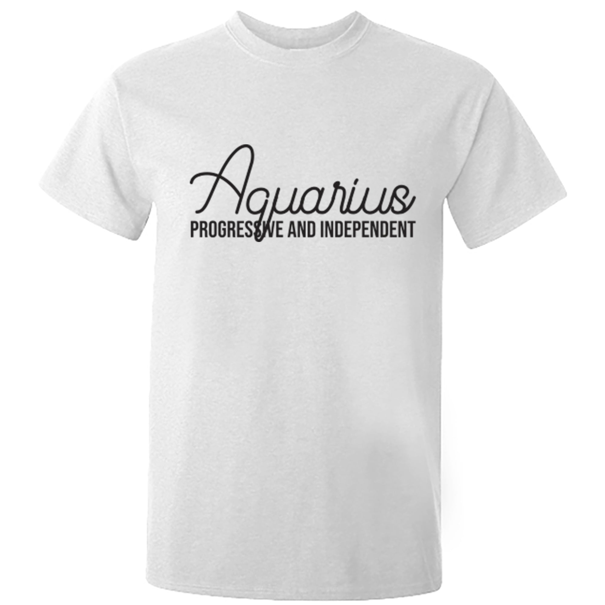 Aquarius, Progressive And Independent Zodiac Star Sign Unisex Fit T-Shirt S0445 - Illustrated Identity Ltd.